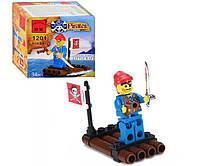 """Конструктор """"Пираты: Плот"""" 34 детали Brick 1201"""