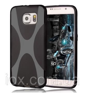Силиконовый черный чехол X-линия для Samsung Galaxy S6