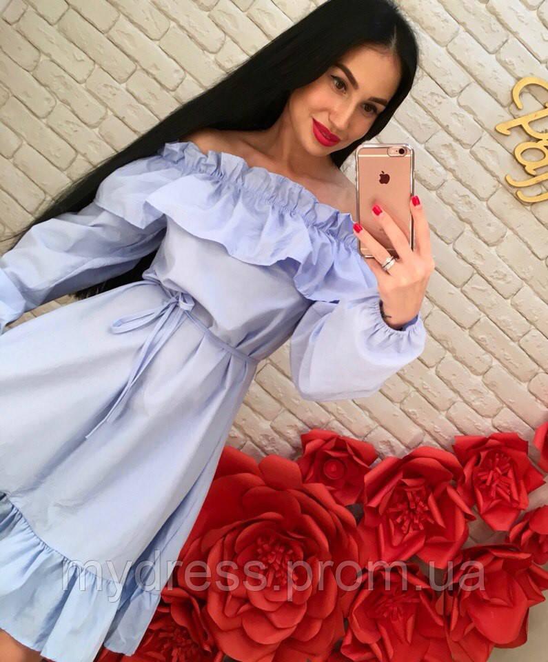 Стильное платье коттон