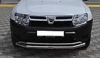 Защита переднего бампер (передний усь, кенгурятник) Renault Duster Рено дастер