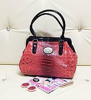 Красная сумка-саквояж