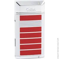 Зажигалка Colibri EVOKE, Красный лак/Серебро+пробойник 8мм турбо (Co497004-qtr)