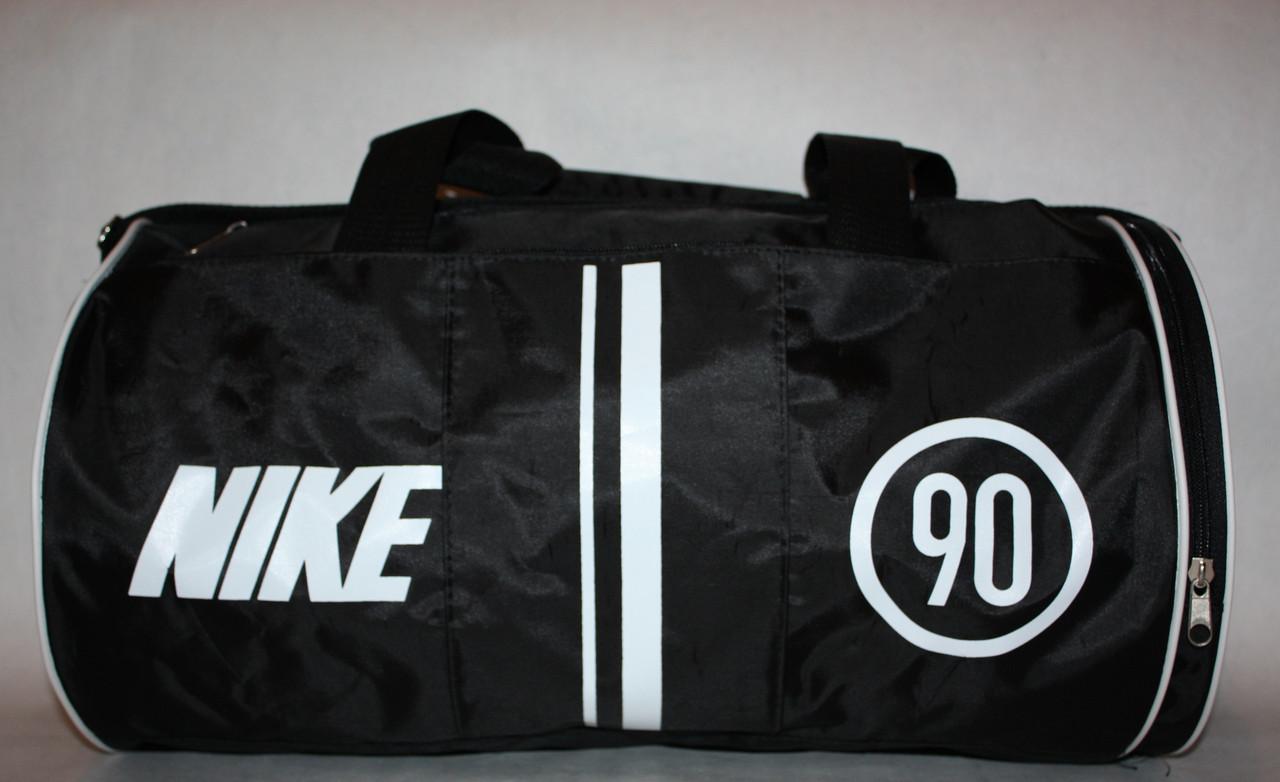 Спортивна дорожня сумка Nike чорна біла