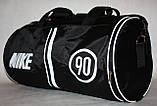 Спортивна дорожня сумка Nike чорна біла, фото 2