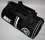 Спортивна дорожня сумка Nike чорна біла, фото 3