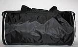 Спортивна дорожня сумка Nike чорна біла, фото 4