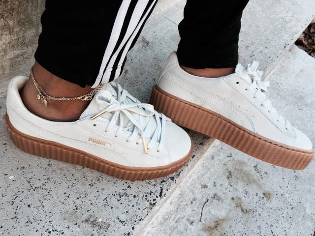 Кроссовки женские Puma Rihanna white gum