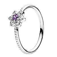 Кольцо из серебра Незабудка