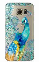 Силіконовий чохол з павичем для Samsung Galaxy S6 Esge, фото 1