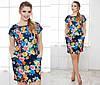 Женское платье цветы батал, фото 2