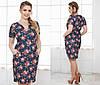 Женское платье цветы батал , фото 2