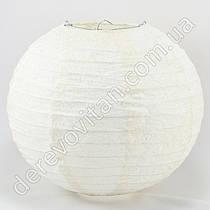 Подвесной фонарик из ткани с глиттером, 25 см