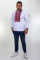 Мужская вышитая сорочка с геометрическим орнаментом