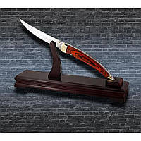 Нож сувенирный на подставке из натурального дерева - отличный подарок