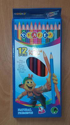 Цветные карандаши 12 шт.