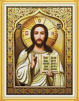 """Набор для вышивки крестом с печатью на ткани 14ст  """"Исус """""""