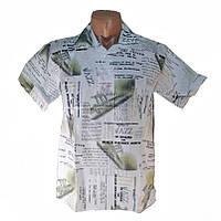Мужская сорочка модный принт х/б