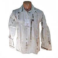 Мужская сорочка принт газета х/б, фото 1
