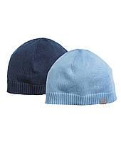 Детские шапочки для мальчика (2 шт)  6-12 месяцев, 1-2 года