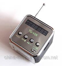 Портативна колонка динамік Mini Digital Speaker TD-V26 з FM-радіо і MP3, фото 3