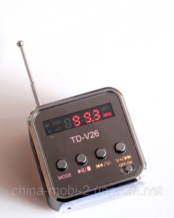 Портативна колонка динамік Mini Digital Speaker TD-V26 з FM-радіо і MP3