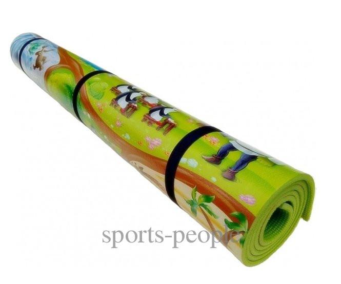 """Коврик (каремат) """"Мадагаскар"""" для туризма и фитнеса, детский, однослойный, 200*1200*8 мм"""