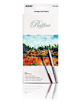 Карандаши цветные  MARCO  24 цвета Raffaine Aquarelle, металлизированные, акварельные с кисточкой