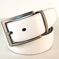Ремень кожаный мужской Alon белый/коричневый (ZB40012)