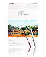 Карандаши цветные  MARCO  36 цветов Raffaine Aquarelle, металлизированные акварельные с кисточкой