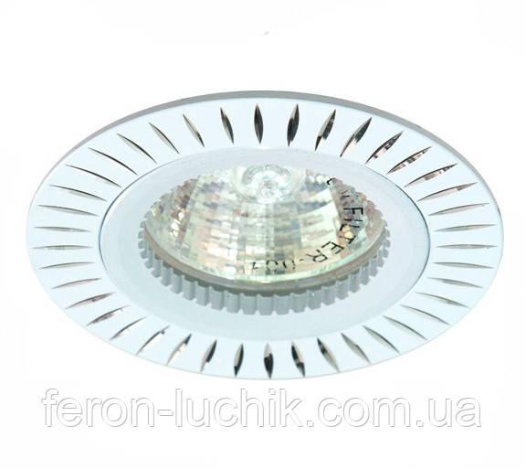 Світильник точковий Feron GS-M394 під лампу G5.3 МR-16 не поворотний стельовий білий