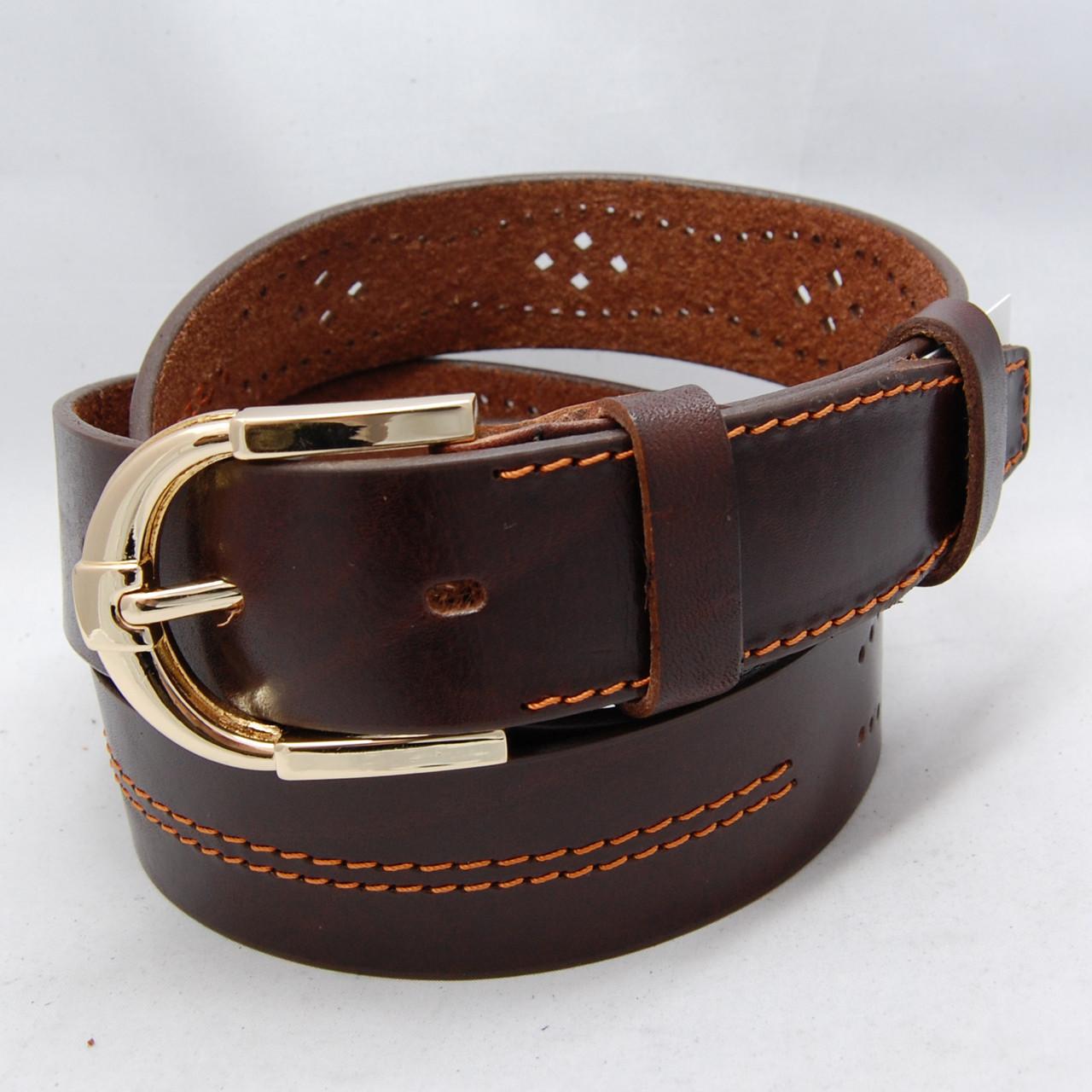 e387be4944f9 Ремень кожаный мужской JK тёмно-коричневый (8321): продажа, цена в  Харькове. ремни и ...