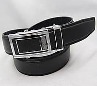 Ремень мужской автомат из кожзама JK черный (8353)