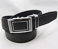 Ремень мужской автомат из кожзама JK черный (8354)