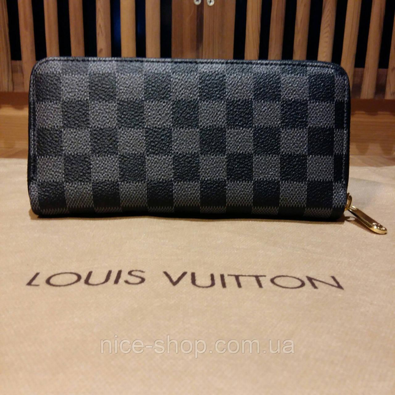 c4e1a5d0a1dd Кошелек Louis Vuitton серый в клетку на молнии: продажа, цена в ...
