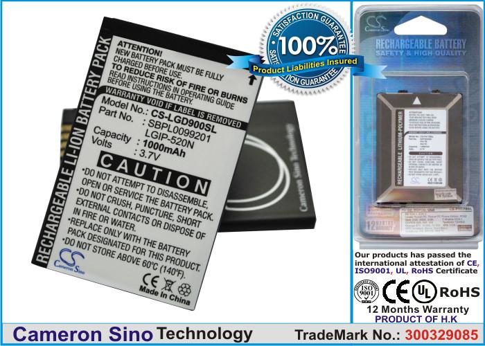 Аккумулятор для LG BL40 Chocolate 1000 mAh