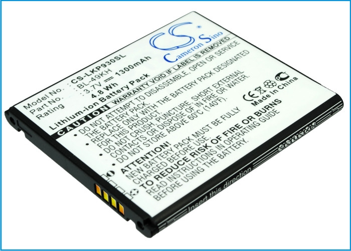Аккумулятор для LG P960 1300 mAh
