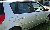 Боковые дефлекторы Renault Scenic II 2003 (Рено сценик 2) Cobra Tuning