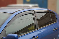 Боковые дефлекторы Renault Megane II Sd 2002-2008 (Рено меган 2)  Cobra Tuning