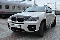 Мухобойка +на капот  BMW X5/Х6, (E70) 2007-, короткий, темный (БМВ Х5, Х6) SIM