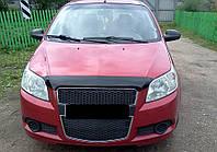Мухобойка +на капот  Chevrolet AVEO HB 08-11 5д темный (Шевроле Авео) SIM