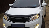Дефлектор +на капот   KIA Rio 11-, седан/хетчбек, темный (Киа Рио) SIM