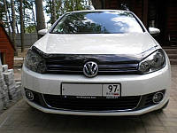 Мухобойка +на капот  Volkswagen GOLF VI 2009-2012 (Фольксваген Гольф) SIM