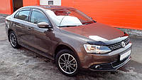 Мухобойка +на капот  Volkswagen JETTA 2011- темный (Фольксваген Джетта) SIM