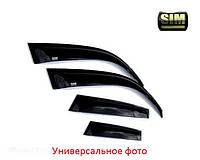 Дефлекторы боковых стекол HYUNDAI Santa Fe 12- темный (Хундай Санта Фе) SIM