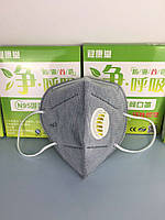 Турмалиновая защитная респираторная маска для лица с анионами и активным углем