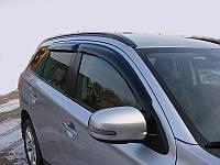 Боковые дефлекторы MITSUBISHI OUTLANDER 2012- темный (Митсубиси Аутлендер) SIM