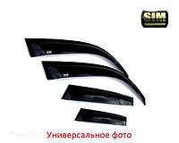 Дефлекторы боковых стекол TOYOTA Highlander 2014- хром (Тойота Хайлендер) SIM
