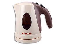Чайник электрический Vitalex VL-2028, компактный чайник электро 0,9 л, электрочайник