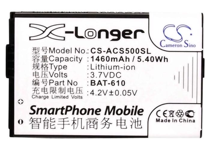 Аккумулятор для Acer CloudMobile S500 1460 mAh
