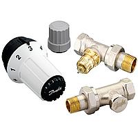 Комплект радиаторных терморегуляторов Danfoss RA-FN, RAS-C, RLV-S прямой